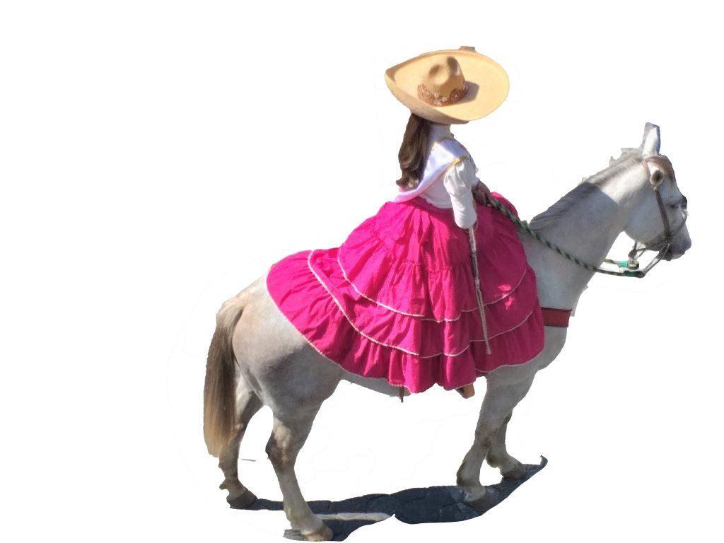 Cavalière avec jupe Rose Colima Mexique