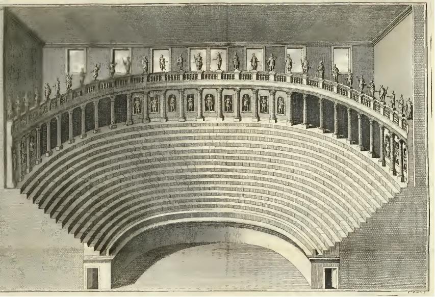 Dessin Intérieur teatro olympico Vicenza palladio