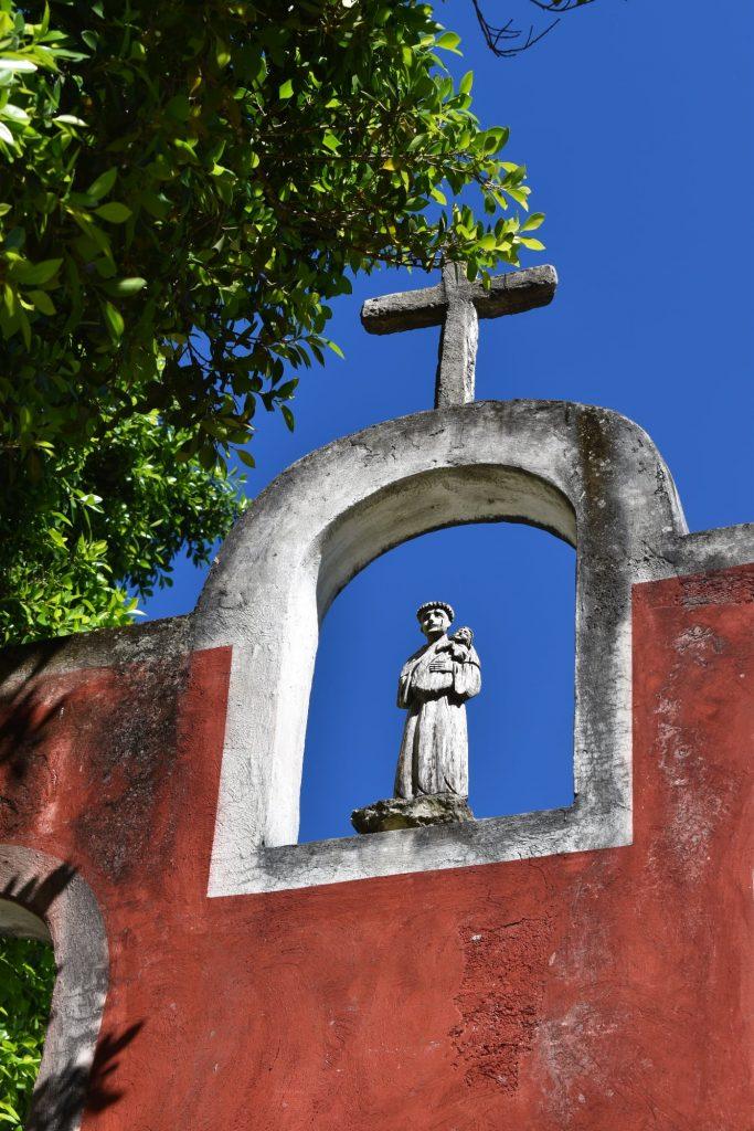 Entrance of the hacienda museum of Yaxcopoil Yucatan