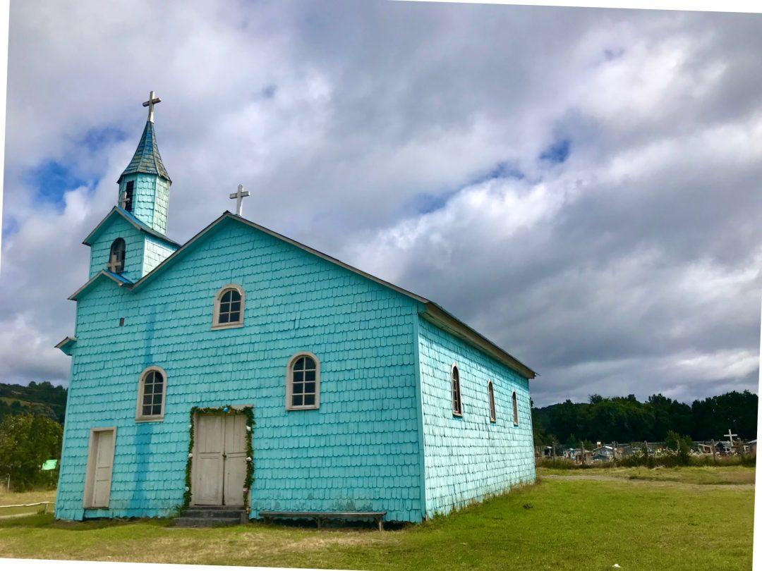 église de Chiloé, Patagonie, Chili
